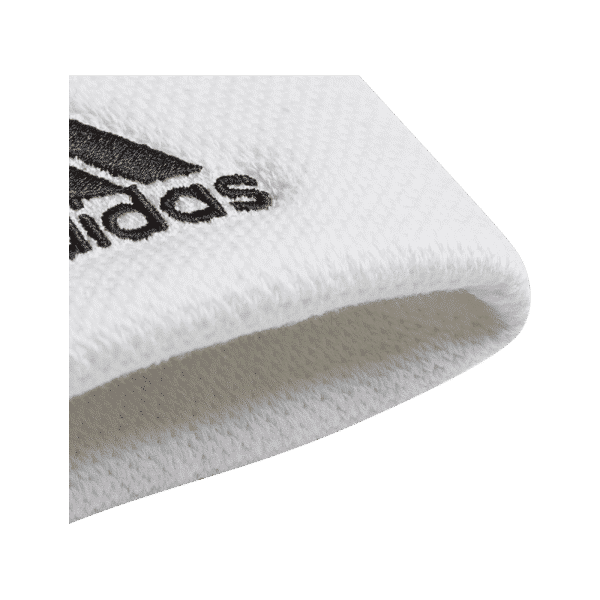 adidas Wristband Large White. White wristband from adidas.