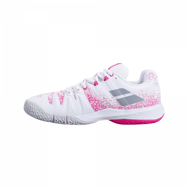 Babolat Sensa 2021 White/Pink Peacock. White and pink padel shoes from Babolat.