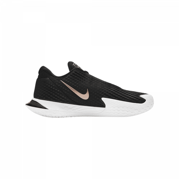 Nike Court Air Zoom Vapor Cage 4 Black/White/Bronze. Black, white and bronze colored padel shoes from Nike.
