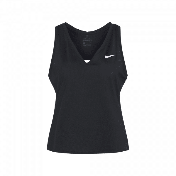 Nike Court Dri-FIT Victory Tank Top Black. A black padel tank top from Nike.