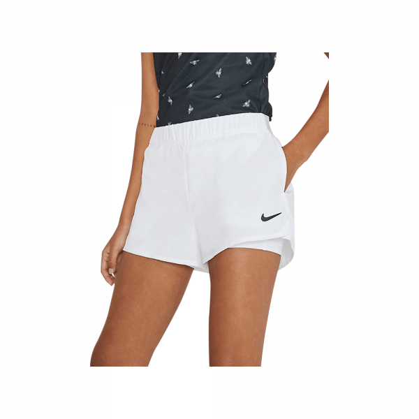 Nike Court Flex Shorts White. A pair of white padel shorts from Nike.