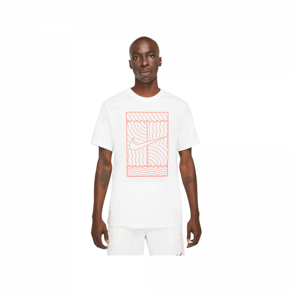 Nike Court SSNL Court T-Shirt White. A white padel t-shirt from Nike.