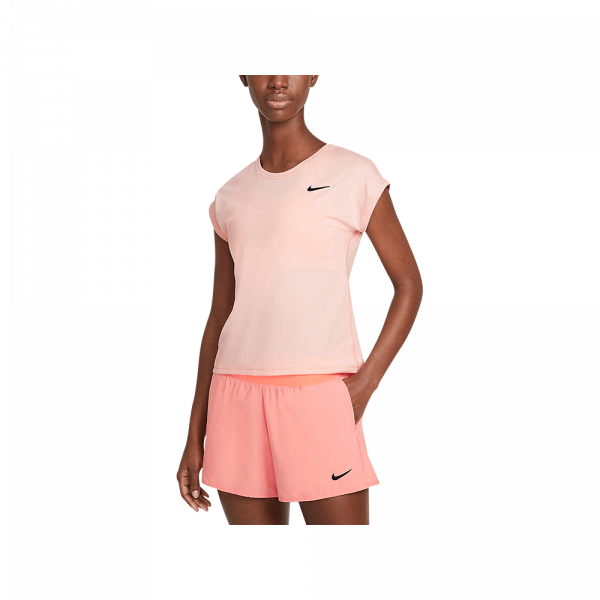 Nike Court Victory T-Shirt Arctic Orange/Black. An orange padel t-shirt from Nike.