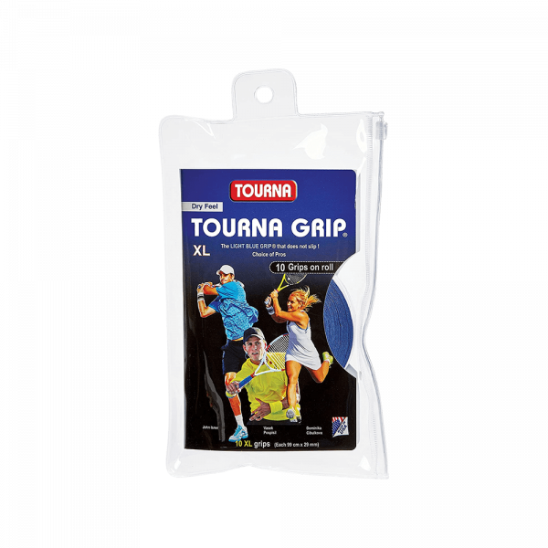 Tourna Grip 10-Pack Light Blue. Overgrips for padel from Tourna.