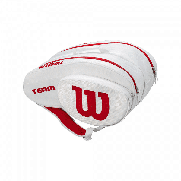 Wilson Padel Bag White/Red. White and red padel bag from Wilson.