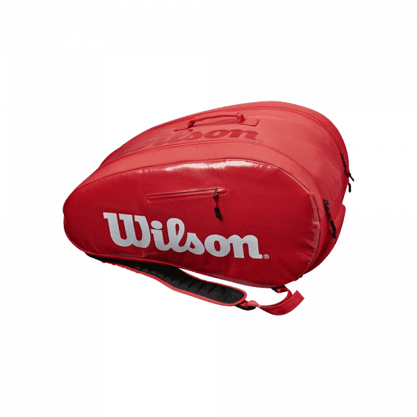 Wilson Super Tour Padel Bag Red/White. Red and white padel bag from Wilson.