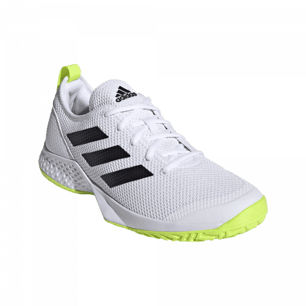 adidas APAC Halo Multi-Court Cloud White/Solar Yellow. White and yellow padel shoes from adidas.