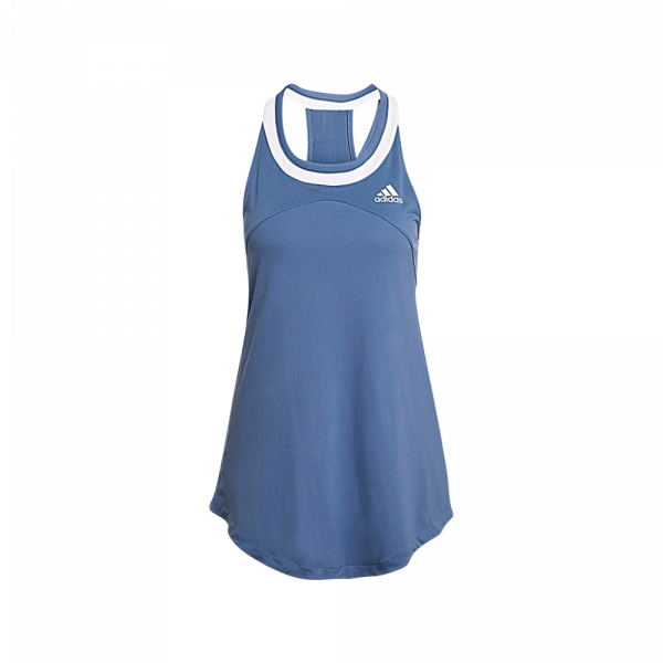 adidas Club Tank Top Crew Blue. A blue padel tank top from adidas.