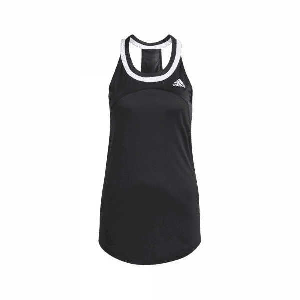 adidas Club Tank Top Black. A black padel tank top from adidas.