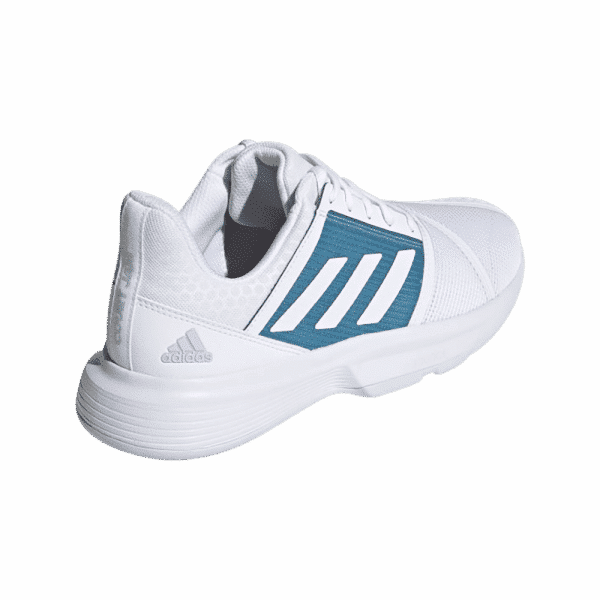 adidas Courtjam Bounce Cloud White/Hazy Blue. White and blue padel shoes from adidas.
