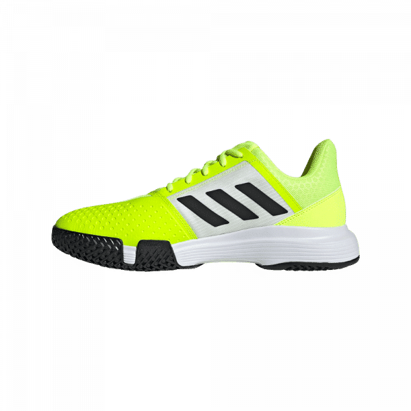 adidas Courtjam Bounce Solar Yellow/Hazy Sky. Yellow padel shoes from adidas.
