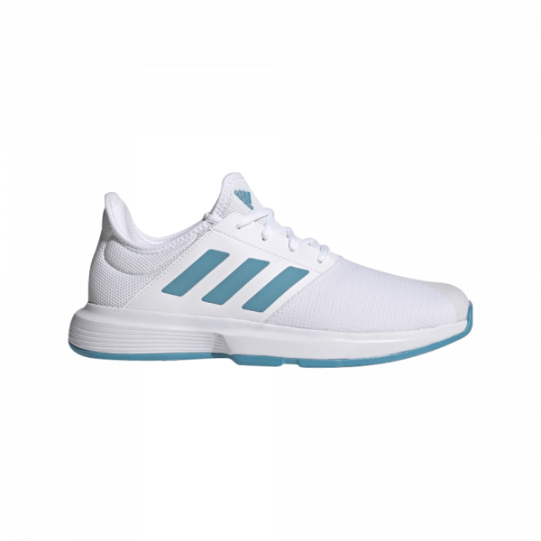 adidas GameCourt Cloud White/Hazy Blue. White and Blue padel shoes from adidas.
