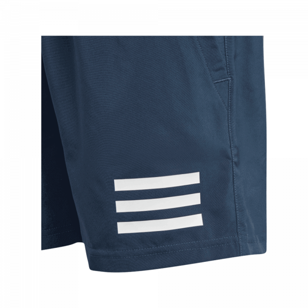 adidas Junior Club 3-Stripe Shorts Navy. A pair of navy colored padel shorts for juniors from adidas.
