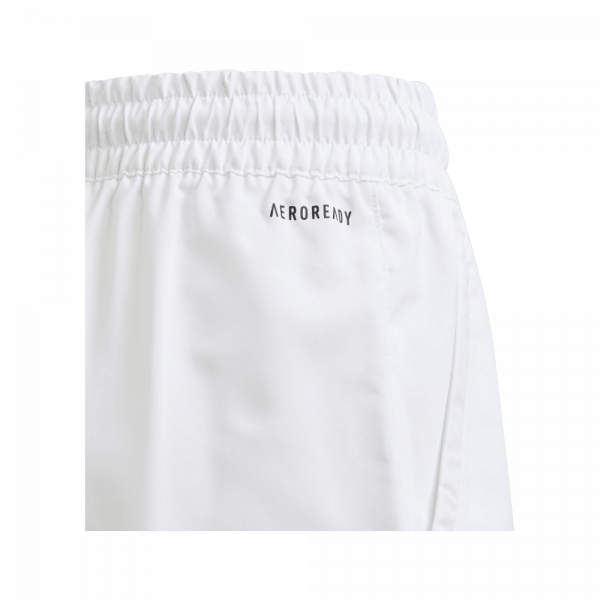 adidas Junior Club 3-Stripe Shorts White. A pair of white padel shorts for juniors from adidas.