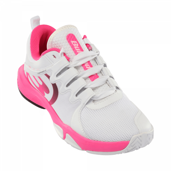 Bullpadel Flow Hybrid Fly 2021 white and pink padel shoes from Bullpadel