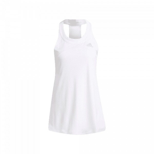 ADIDAS CLUB TANK TOP, white tank top from adidas