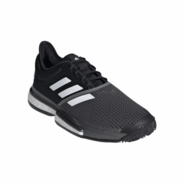adidas Solecourt Primeblue Clay black and grey color padelshoes from adidas