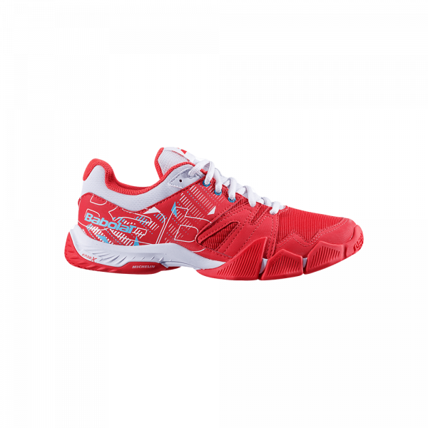 Babolat Pulsa 2021 red and white padel shoes from Babolat