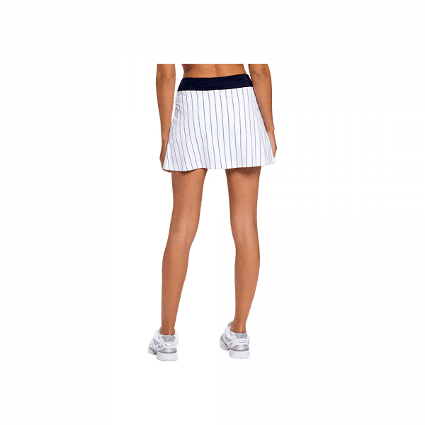 FILA Skirt Anna is a padel skirt from FILA in white with navy colored stripes. The skirt has a pocket for the padel ball.