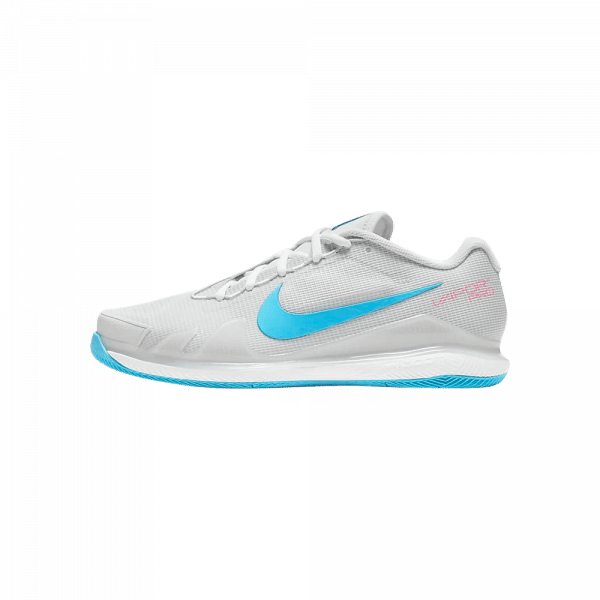 Nike Court Air Zoom Vapor Pro | Dust/Grey Fog white and turquoise padel shoes from Nike