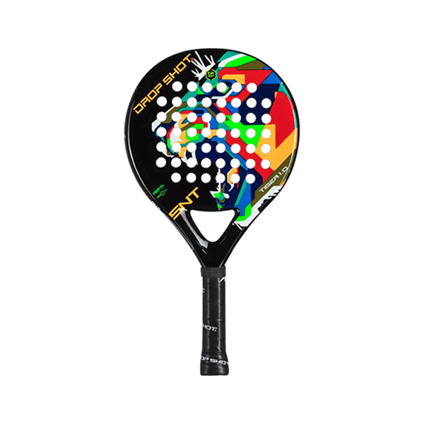 Drop Shot Tiger Junior racket for kids with soft core. Easy control racket for young players.