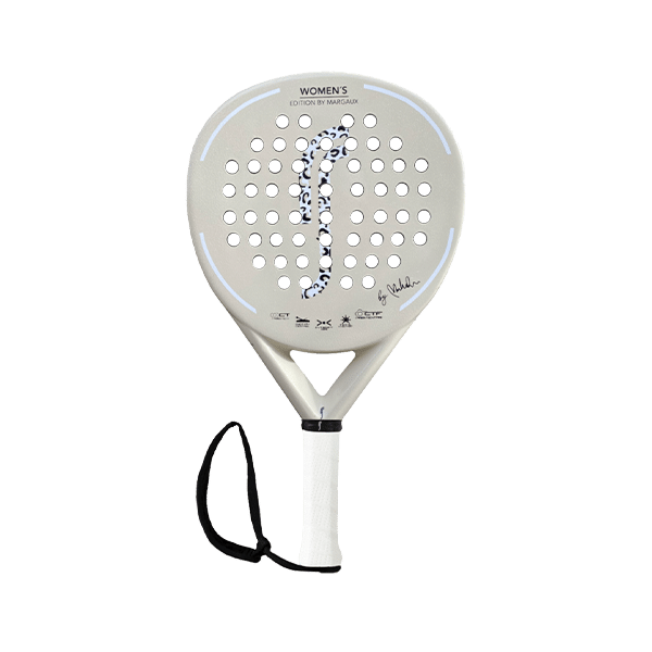 RS X-Series Women's Edition by Margaux. Beige padel racket from the Swedish brand RS Padel.