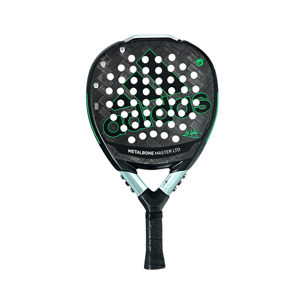 Metalbone Master LTD is a limited racket from adidas in black and green color.