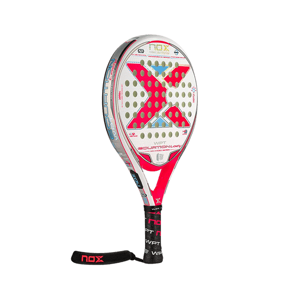 White racket from NOX. The perfect padel racket for the player who is looking for an easy-to-play-with and gentle racket, that at the same time gives a lot in return