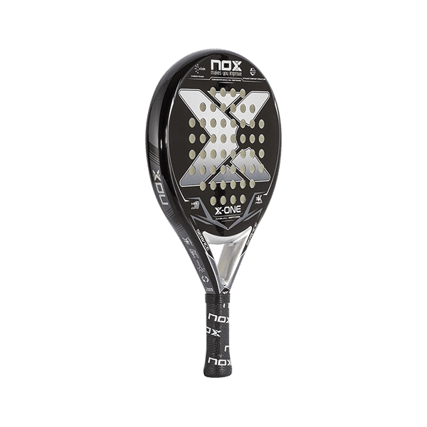 Black racket from NOX. One of the best and most popular padel racket for beginners.