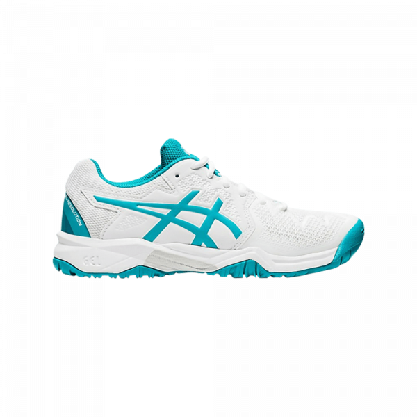 Asics GEL-Resolution 8 GS Junior White/Lagoon. Junior padelskor från Asics.