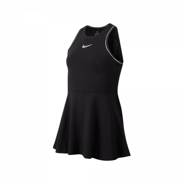Nike Court Dri-FIT Junior Dress Black. Svart padelklänning i juniormodell från Nike.