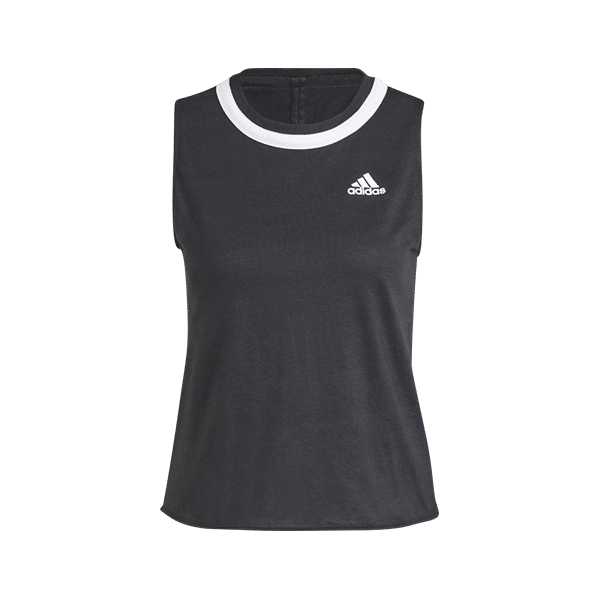 Club Knotted Tank top for padel and tennis. Black top with modern twist on the back. Article number GL5467