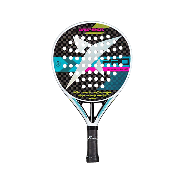 Drop Shot Explorer Pro 3.0 Soft. Padel racket from Drop Shot in dropp shape. Allround racket which fits medium players.