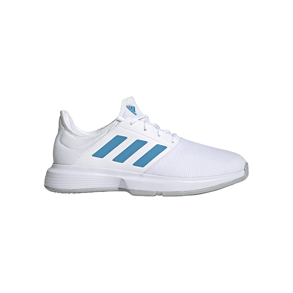 adidas Gamecourt Padel Tennis Shoe for men. Article number GZ8514. Color white and blue.