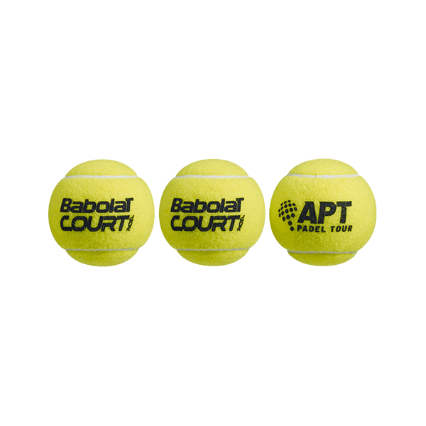 Babolat Padel Court ball is a padel bag with high quality. 3 balls in one tube.