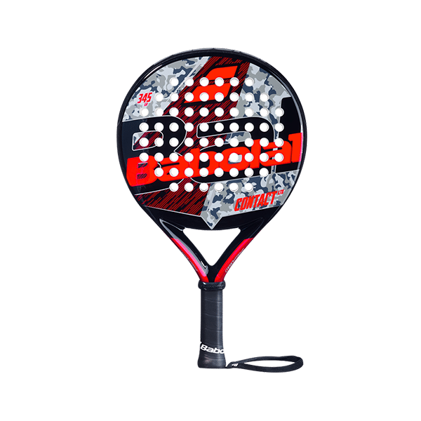 Contact Limited 2021 is a padelracket from Babolat in black, red and grey colors.