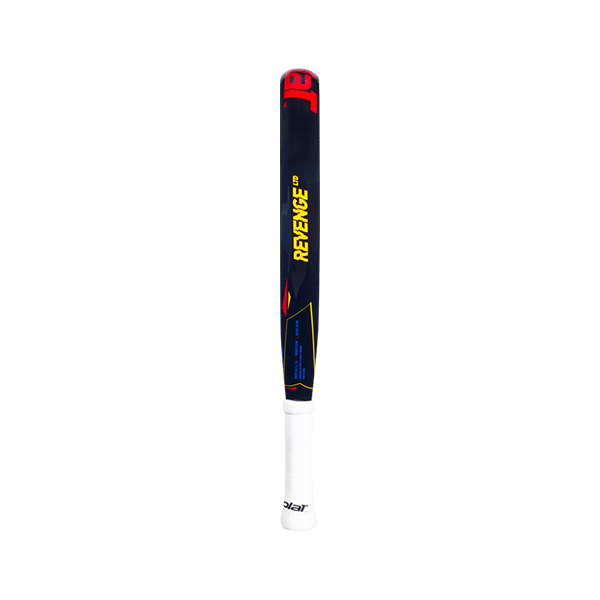 Revenge Limited 2021 is a padel racket from Babolat in black, red and yellow colors.